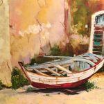 Старый човен, полотно, олiя, 50х60, 2016 р. Художник Анна Прохорова