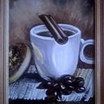 Чашечка кофе, акрил, дсп, 20х30_Алексадра Кубанкина