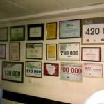 Дипломы с суммами благотворительных взносов