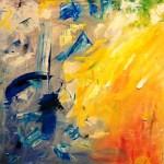 Драма Рождения, (Страх, шум, боль-Свет, Радость, Жизнь), холст, масло, 60х60, 2013г._Елена Жигилевич