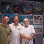 Заслуженный художник Украины Владимир Подчекаев ст. с сыном -художником Владимиром Подчекаевым-младшим.