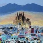Барселона, холст, масло, 35x45, 2017 г.Елена Смаль