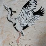 Картина-Косик Анастасия-Журавль надежды,мозаика бисером, 55х65, 2018 г.