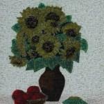 Косик Анастасия,Цвет солнца, мозаика, бисер,стеклярус, 40х40