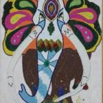 Картина-Косик Анастасия, Слоник, мозаика, бисер, 80х90