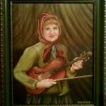 Портрет на заказ-Женский портрет-коллаж,х.м.40х50,2011г.Олег М.Караваев