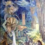 Картина-Пробуждение предков,холст,масло-Татьяна Золотухина