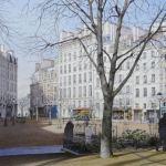 Акварели,городской пейзаж, -заказать картину-Париж