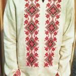 Фото-Вишиванка-тканина-льон,муліне DMC,Катерина Черненко