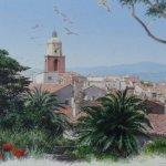 Le village de St Tropez-городской пейзаж