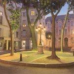 Les Illuminations de la place Furstenberg-Тьерри Дюваль (Thierry Duval)-картины художников