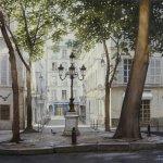 Les pigeons de la place Furstenberg-картина
