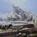 Картина на заказ-Les vaches perdues sur la mer de glace de Caspar David Friedrich