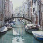 Un pont pour un rendez-vous à Venise-картины на заказ