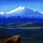 Картина маслом-Архип Иванович Куинджи. Снежные вершины