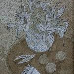 Косик Анастасия-Летнее утро, мозаика из неокрашенной яичной скорлупы г.Краматорск