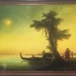 Вид на венецианскую лагуну-Вольная копия Айвазовского, холст, масло, 76х118, 2017 г.-Анастасия Алёхина