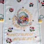 Пасхальний рушничок, вишивка хрестом,розмір 35х65 см, муліне peri-Катерина Черненко