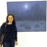 Художник-участник Портала Ольга Дабагян на выставке И.Марчука