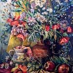 Літній букет, полотно, олія, 40х60, 2006 р.-Камінська Майя