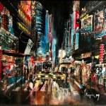 New York , дорога после дождя, холст, масло, 2012г.- Карпюк Марк