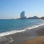 На берегу Средиземного моря-Барселонета-пляж