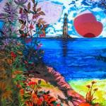 Маяк і дикі трави, 90×60, 2019, акрил - Ганна Ставнича