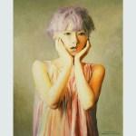 Portrait of Yuri Nakagawa, холст, масло, 70x50, 2019, Артём Резчиков