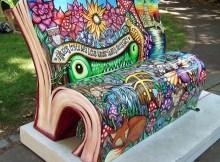 Peter Pan book bench in Bloomsbury