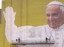 Papal portrait in process KDVR