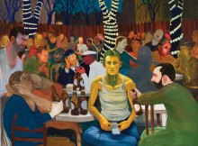 Munich exhibit Nicole Eisenman Beer Garden with Ash 200