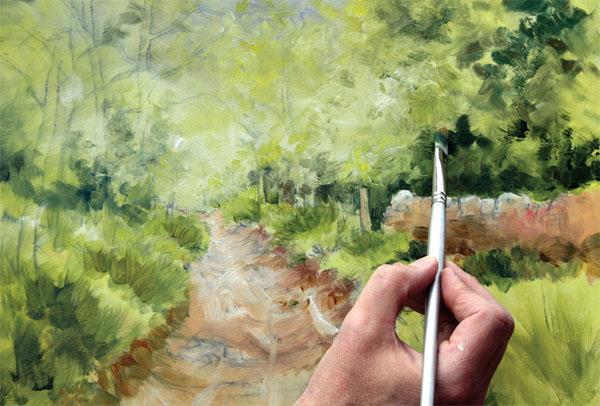 Geoff Kersey oil painting step 3