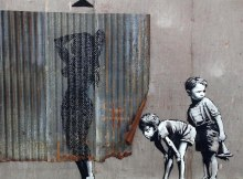 banksy street art in dismaland