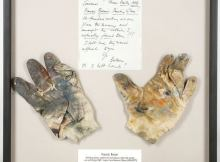 Francis Bacon's painting gloves