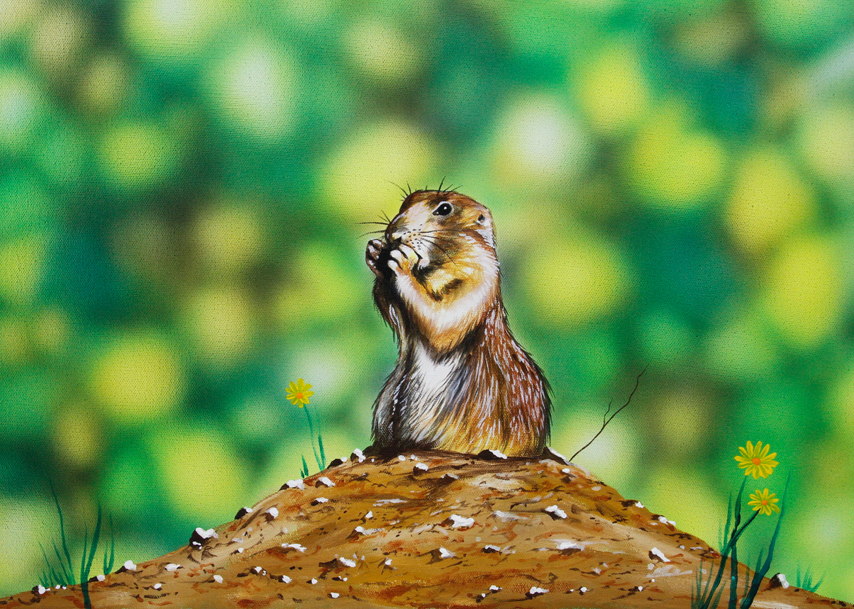 Step-by-Step: Painting a Groundhog