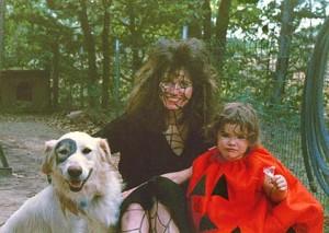 kelly borsheim, dog zac(dressed as Petey fr rascalsand erin