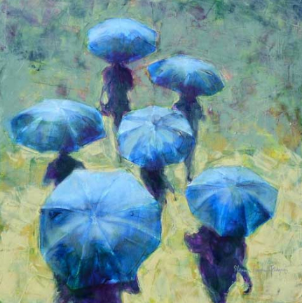 'Blue Umbrellas by Eleanor Lowden Pidgeon, ON, Canada