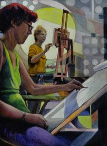 LIFE CLASS ll Watercolor 30x22