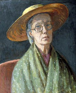 Self-portrait -- ​oil on canvas by Vanessa Bell
