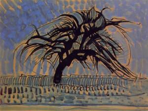 piet-mondrian_blue-tree