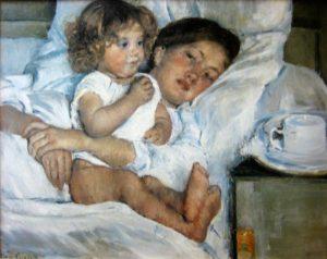 Mary-Cassatt_Breakfast-in-Bed_1897