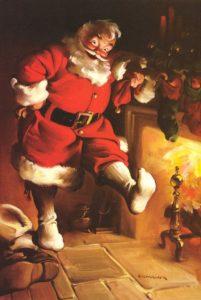 haddon-sundblom_santa-fireplace
