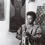 Faith Ringgold in her studio, 1969
