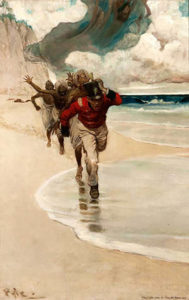 howard-pyle_we-started-to-run-back-to-the-raft_1902