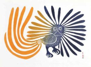 The Enchanted Owl, 1960 Stonecut on paper Printer: Eegyvudiuk Pootoogook 60.9 x 66 cm by Kenojuak Ashevak (1927-2013)