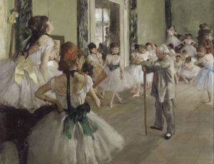 The Ballet Class, 1871-1874 oil on canvas 85 x 75 cm by Edgar Degas