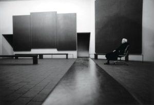 Dominique de Menil (1908-1997) at the Rothko Chapel, 1997. Adelaide de Menil photo, The Menil Archives, The Menil Collection, Houston
