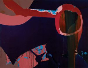 Zeus Weeps, 1972 oil on canvas 88 1/4 x 115 1/4 inches by Dorothy Hood (1919-2000)