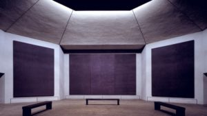 Rothko Chapel, Houston TX Commissioned by Dominique de Menil Designed by Philip Johnson, Howard Barnstone, Eugene Aubry, Gene Aubry, Architects Paintings (1964-1967) by Mark Rothko (1903-1970)