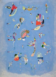 Sky Blue, 1940 oil on canvas 39.4 × 28.7 inches by Wassily Kandinsky